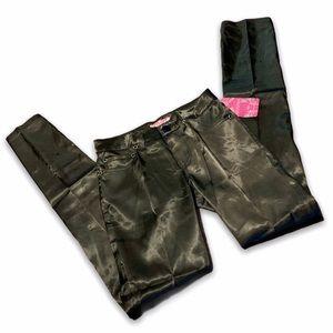 Modiva Black Satin Silky Flare Pants Juniors